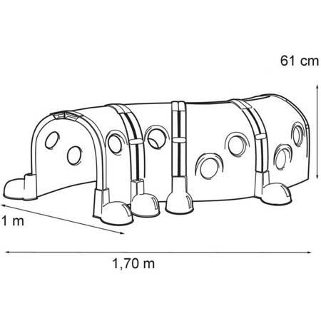 Dodatkowe 4 moduły do Placu Zabaw Gąsienica