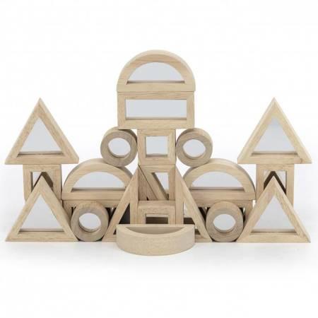 Drewniane Klocki Lustrzane układanka 24 elementy Viga Toys