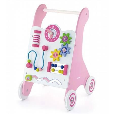 Drewniany Edukacyjny Pchacz Różowy Viga Toys