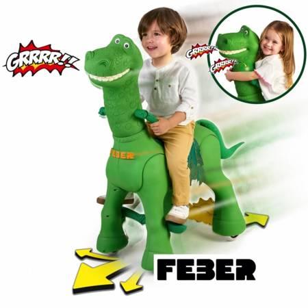 Interaktywny Jeździk Dinozaur Na Akumulator 12V FEBER