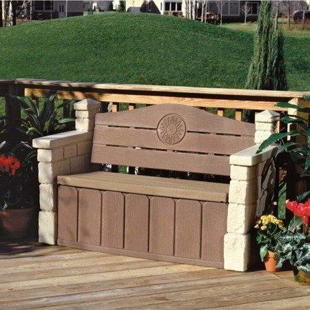 Ławka ogrodowa ze schowkiem Step2 543300 - 2 osobowa