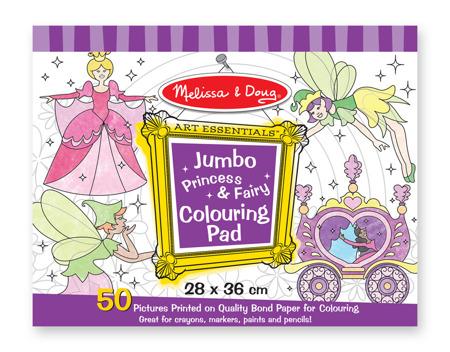 Blok Rysunkowy Kolorowanki Jumbo Wróżki 14263 Melissa and Doug