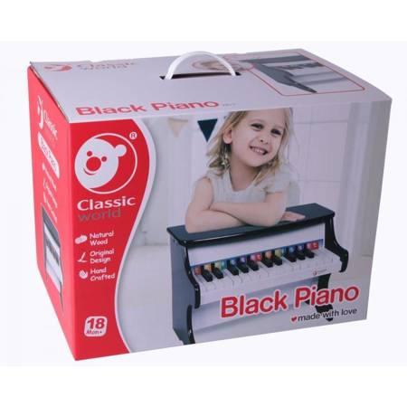 Czarne  Pianinko dla dzieci  Classic World