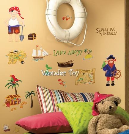 Dekoracje ścienne samoprzylepne Piraci Naklejki RoomMates RMK1195SCS