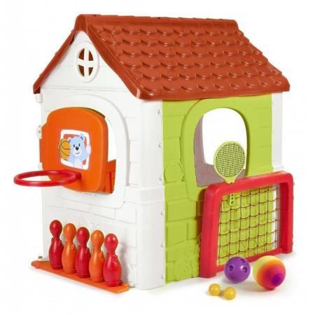 Domek Ogrodowy dla dzieci Multi Plac Zabaw 6 w 1 + Zestaw Gier