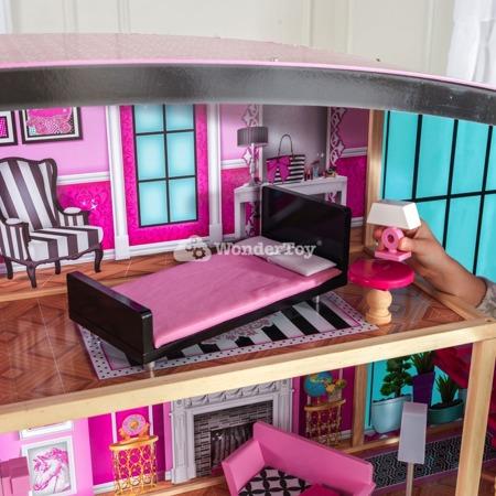 Domek dla lalek - Rezydencja Shimmer Mansion Jacuzzi Światło i Dźwięk - Kidkraft Premium Series