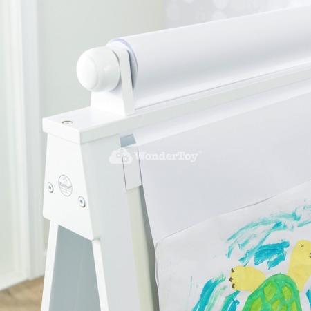 Drewniana Biała Tablica do rysowania i malowania Adjustable Kidkraft 62040