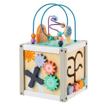 Drewniana Kostka Edukacyjna Pastel Box