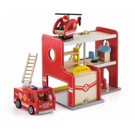 Drewniana Remiza Strażacka Garaż Viga Toys