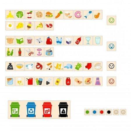 Drewniana Układanka Gra  nauka sortowania śmieci Viga Toys