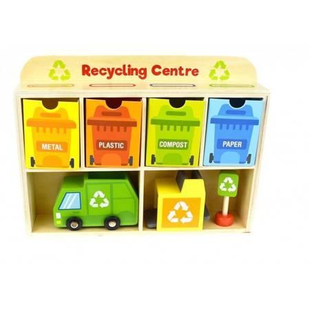 Drewniane Centrum Recyklingu Edukacyjny Sorter TOOKY TOY