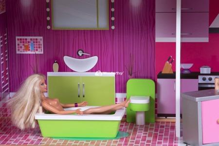 Drewniany Domek dla lalek Barbie Willa Santa Monica