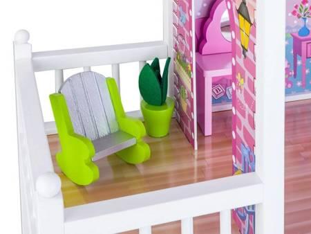 Drewniany Domek dla lalek z windą Adela