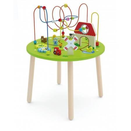 Drewniany Stolik Edukacyjny Farma  Viga Toys