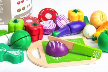 Kubełek Drewniane Warzywa do krojenia