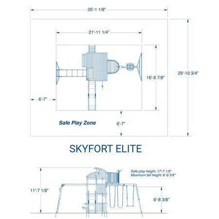 Mega Plac Zabaw Skyfort Elite 2 z oświetleniem LED Backyard Discovery