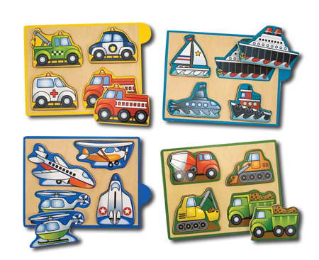 Mini Puzzle Pojazdy  Melissa and Doug 14791