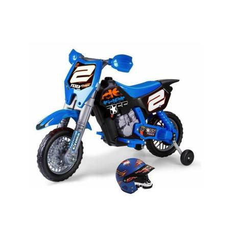 Motocykl Cross Pojazd na Akumulator RIDER 6V  + Kask FEBER