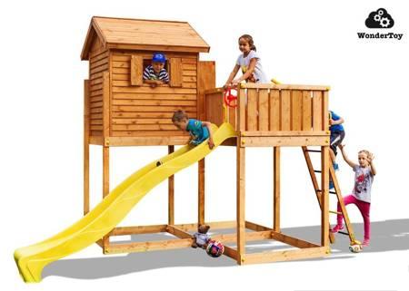 Plac Zabaw - Domek ogrodowy ze ślizgawką My Side Fungoo