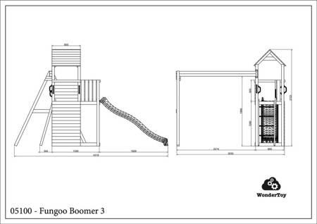 Plac zabaw Boomer 3 Natural FunGoo ®