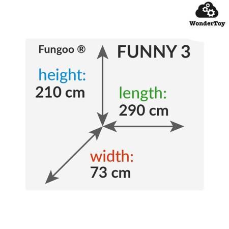 Plac zabaw Fungoo Funny 3 Ścianka Wspinaczkowa