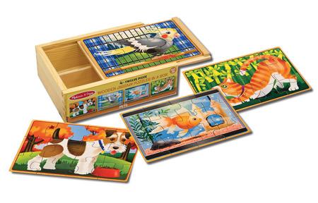 Poczwórne Puzzle Zwierzaki  Melissa and Doug 13790