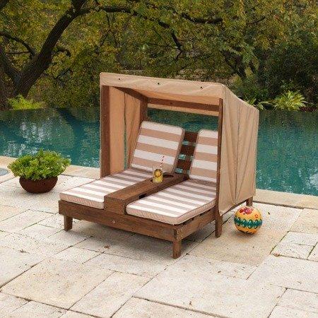 Podwójny Szezlong Leżak ogrodowy z Baldachimem Kidkraft Chaise Lounge 00534