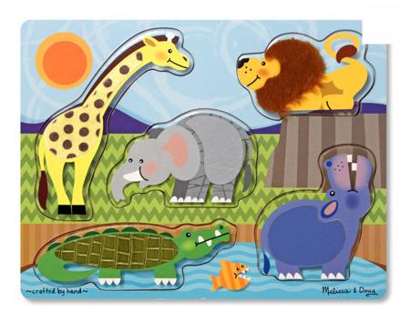 Puzzle Dotykowe Dotknij i Poczuj Zwierzęta z Zoo  Melissa and Doug 14328