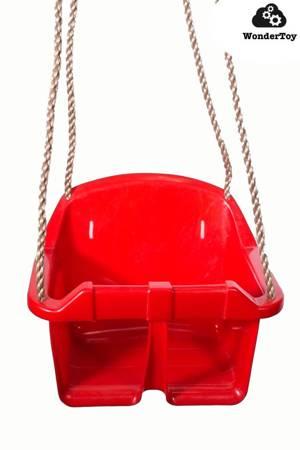 Siedzisko z oparciem, siedzenie, siodełko do huśtawki - baby seat z oparciem czerwone