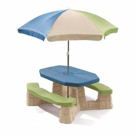 Step2 Stół Piknikowy + Parasol