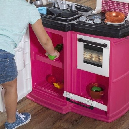 Step2 Stylowa Kuchnia Smakosza Różowa  Światło Dźwięk + Akcesoria