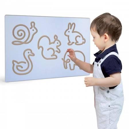 Szablon do Rysowania Zwierzątek Tablica Edukacyjna Viga Toys