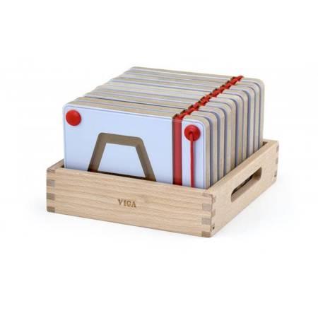 Tabliczki Magnetyczne Nauka Rysowania Figury Geometryczne Viga Toys