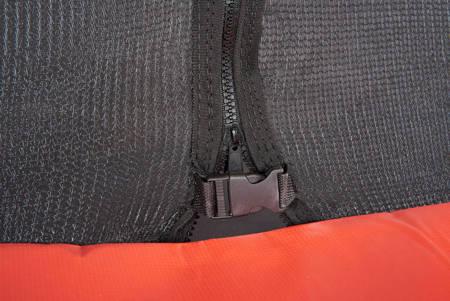 Trampolina Ogrodowa 244 cm / 8 FT Maxy Comfort Czarna Z Wewnętrzną Siatką