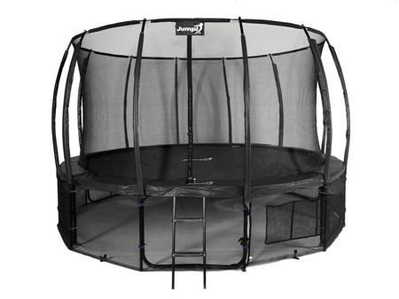 Trampolina Ogrodowa 435cm/14ft czarna Maxy Comfort Plus Z Wewnętrzną siatką