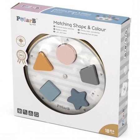 VIGA PolarB Układanka Dopasowanie Kształtów i Kolorów
