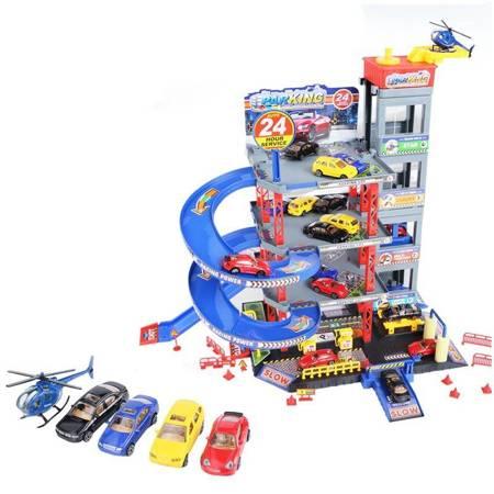 WOOPIE Wielopoziomy Parking Garaż Myjnia Auta Helikopter + Akc.
