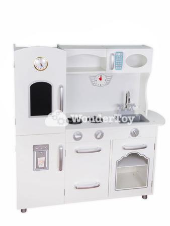 Wielka Drewniana Kuchnia Dla Dzieci Wonder Toy Retro Deluxe WTK2003