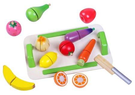 Zestaw Drewniane Warzywa i Owoce do krojenia
