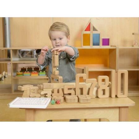 Zestaw Edukacyjny Drewniane Cyferki  Masterkidz